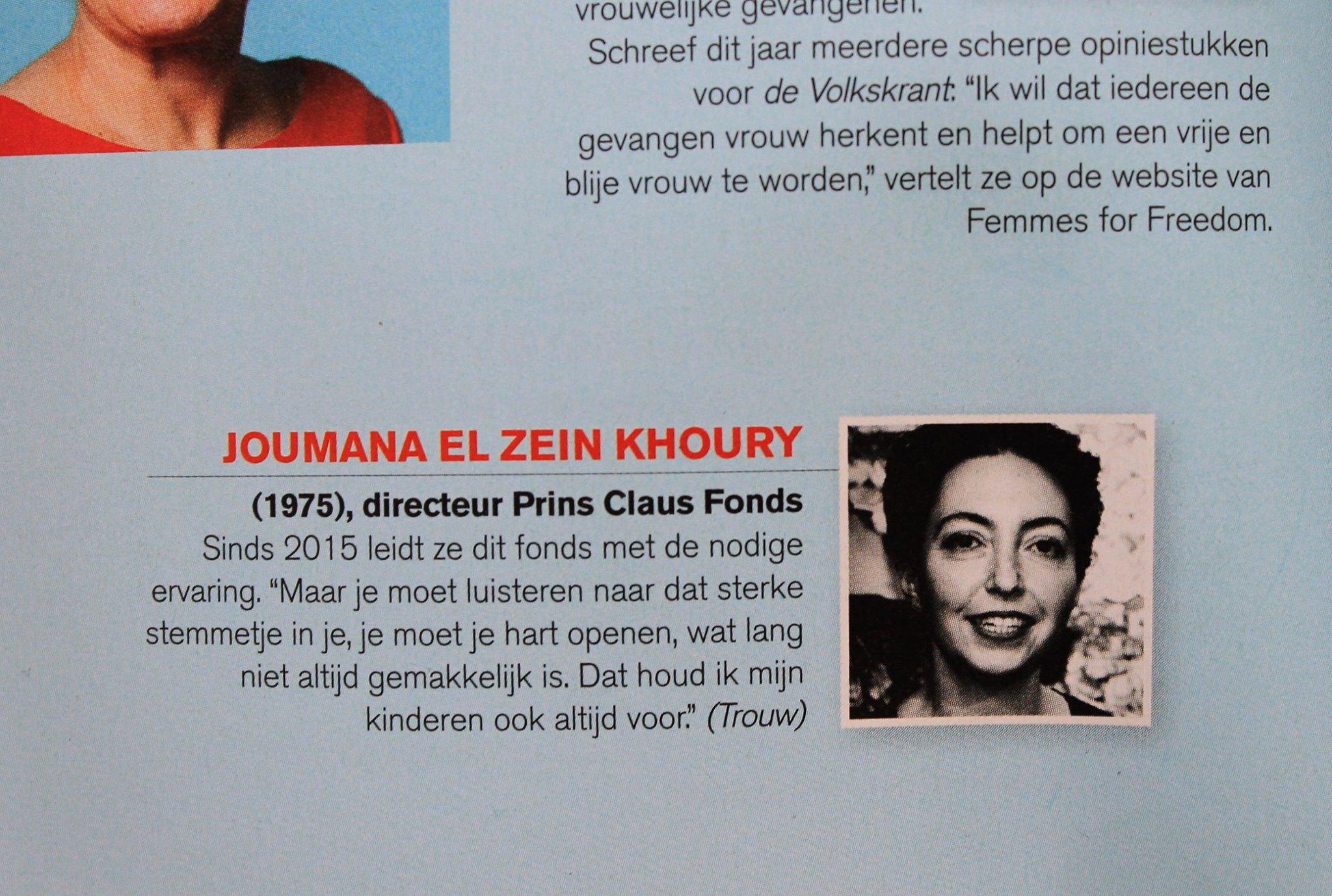 2017 Joumana El Zein Khoury Opzij