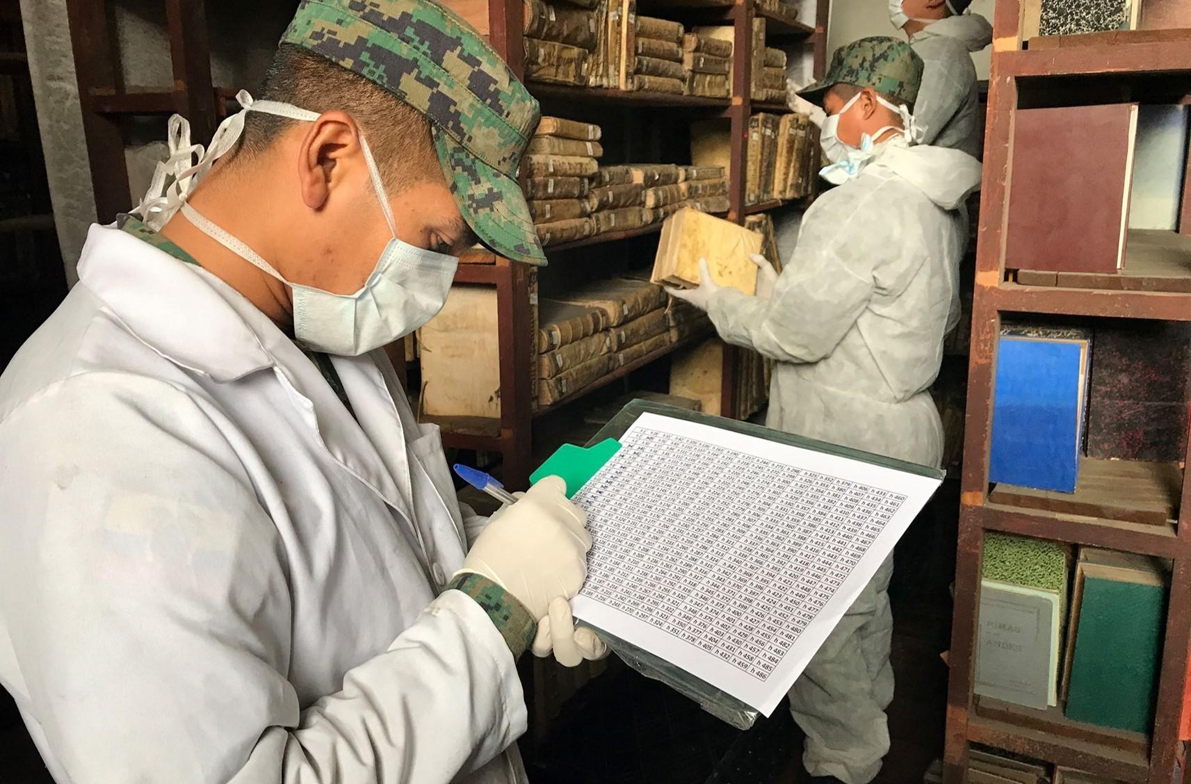 San Augustine Making careful inventory