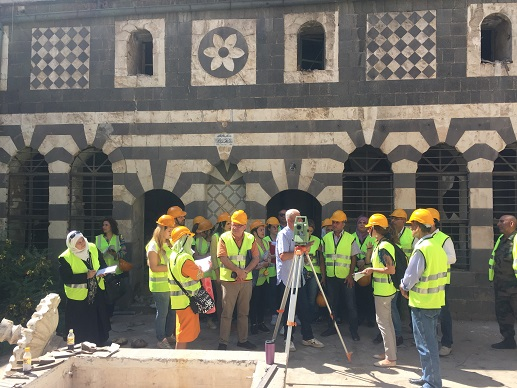 Syria First Aid To Heritage Course Day5 The Participants Learned Basic Skills On How To Use The Total Station Tool For Documentations1