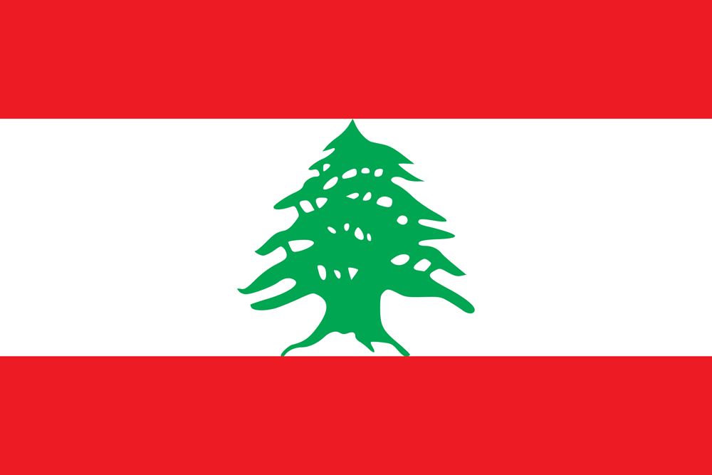 Lebanon flag medium